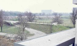 DIA42247 Bouwrijpmaken van het terrein achter Metrostation Hoogvliet; ca. 1975