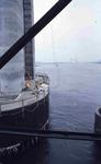 DIA42259 Spijkenisse; ; De pijler voor de nieuwe Spijkenisserbrug in aanbouw, ca. 1977