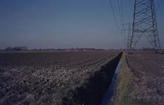 DIA68089 Hoogspanningsmasten kort na de voltooiing; 1973