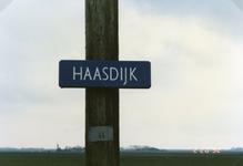 AB_HAASDIJK_005 Het straatnaambordje van de Haasdijk; 2 februari 1992