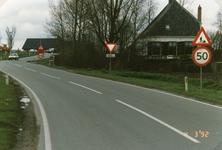 AB_HAASDIJK_025 De Haasdijk, gezien vanaf de Kerkweg; 1992