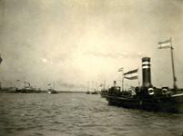 BR_BRIELSEMAAS_012 Brielle; Stoomscheepje SS Den Briel op de Brielse Maas, ca. 1920