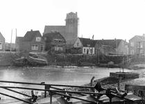 BR_MAARLANDZZ_132 Brielle; Kijkje op de Kostverloren en enkele panden langs het Maarland ZZ, ca. 1955