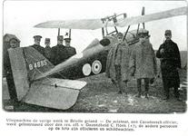 BR_MILITAIREN_016 De noodlanding van Owen Thamer, tweede luitenant bij het Royal Flying Corps uit Canada, geland in de ...