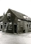 BR_SLAGVELD_080 Woningen langs het Slagveld, met benzinestation van G.A. v/d Ham; 1981