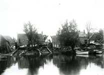 BR_WERFJE_001 De vroegere scheepswerf langs het Zuid Spui; ca. 1930