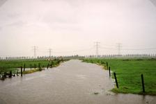 HK_WATEROVERLAST_007 Hoog water in de watering Dalle tijdens de wateroverlast in september 1998; September 1998