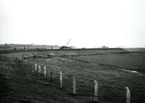 HE_DELTAWERKEN_036 Hellevoetsluis; Voorbereidingen voor de aanleg van een werkhaven voor de aanleg van de ...