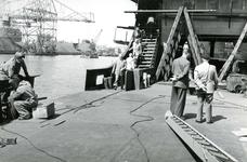 HE_RTM_001 De verbouw van een veerboot tot zijladingsveerboot Haringvliet voor de RTM bij de Amsterdamse Werf Verschure; 1956