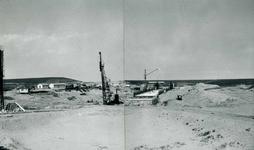 OV_BRIELSEMAASDAM_06 Oostvoorne; Werkzaamheden voor de aanleg van de Brielse Maasdam, ca. 1950