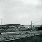 OV_BRIELSEMAASDAM_07 Oostvoorne; Werkzaamheden voor de aanleg van de Brielse Maasdam, ca. 1950