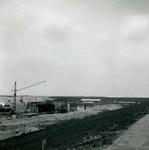 OV_BRIELSEMAASDAM_09 Oostvoorne; Werkzaamheden voor de aanleg van de Brielse Maasdam, ca. 1950