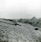 OV_BRIELSEMAASDAM_18 Oostvoorne; Werkzaamheden voor de aanleg van de Brielse Maasdam, ca. 1950