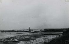 OV_BRIELSEMAASDAM_22 Oostvoorne; Werkzaamheden voor de aanleg van de Brielse Maasdam, ca. 1950