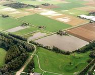OV_WATEROVERLAST_003 Oostvoorne; Ondergelopen weilanden als gevolg van de zware regenval in september 1998. Op de ...