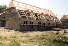 OV_ZANDWEG_08 Aanbouw van tien nieuwe woningwetwoningen langs de Zandweg, als bouwproject voor leerlingen; 1987