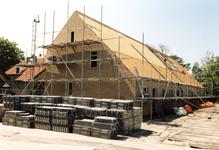 OV_ZANDWEG_09 Aanbouw van tien nieuwe woningwetwoningen langs de Zandweg, als bouwproject voor leerlingen; 1987