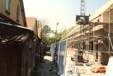 OV_ZANDWEG_12 Aanbouw van tien nieuwe woningwetwoningen langs de Zandweg, als bouwproject voor leerlingen; 1987