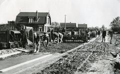 RO_BOOMWEG_03 De Boomweg wordt aangelegd als betonweg; ca. 1938