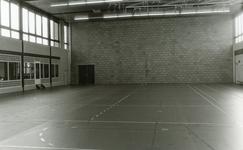 RO_DWARSWEG_43 Opening van de sporthal De Merel. Interieur sporthal noordgevel; 31 oktober 1973