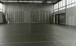 RO_DWARSWEG_44 Opening van de sporthal De Merel. Interieur sporthal noordgevel; 31 oktober 1973
