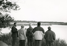 RO_QUACKJESWATER_17 Rockanje; Nachtegalentocht bij het Quackjeswater, met links Leen bakker, ca. 1990