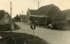 SP_BREEWEG_001 Woningen langs de Breeweg, vroeger Hekelingse Stoep geheten; ca. 1952