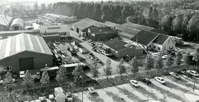 SP_BREEWEG_007 Bedrijven langs de Breeweg en Industriestraat, gezien vanaf de Marrewijkflat; September 1971