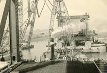 SP_BRUGGEN_BOTLEKBRUG_003 De aanleg van de Botlekbrug; 1955