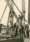 SP_BRUGGEN_BOTLEKBRUG_010 De aanleg van de Botlekbrug; 1955