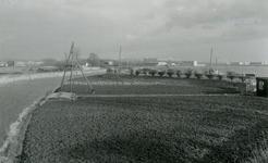 SP_VIERAMBACHTENBOEZEM_008 Spijkenisse; Gezicht op de Vierambachtenboezem vanaf de Vierde Heulbrug, 1973