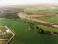 SP_WATEROVERLAST_023 Hoog water in de polder na overvloedige regenval: de Vierambachtenboezem buiten zijn oevers ...