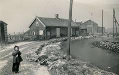 SP_WATERSNOODRAMP_1953_001 Stand van het water langs de Breeweg tijdens de watersnood; 1953