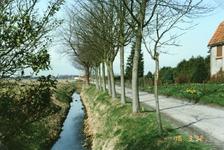 TI_RIETDIJK_007 Rietdijk tijdens de verbetering en verbreding. Rechts woonde Jan Stolk; 1992