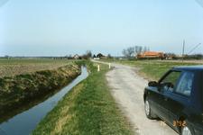 TI_RIETDIJK_008 Rietdijk tijdens de verbetering en verbreding. Links woonde Koornneef; 1992