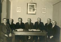 VP_PERSONEN_012 Bestuursleden van de Boerenleenbank. Personen v.l.n.r. J. v/d Linde, M. Lieve, M. Mol, P. de Koning, P. ...