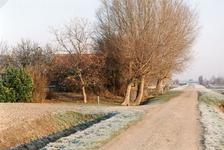 VP_TUSSENWEG_001 De Tussenweg, gezien in de richting van de Dorpsdijk met links de woning van L.P. Hokke Czn; ca. 1995
