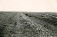 ZL_DIJKVERSTERKING_39 Kijkje op de Zeedijk, bij de aansluiting van de Ganzekoekweg nabij de Koeneweg; 1957