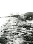 ZL_WATERSNOODRAMP_013 Zuidland, gezien vanaf de Stationsweg; 1 februari 1953
