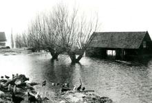 ZL_WATERSNOODRAMP_095 Boerderij van M. Blaak in het water; 1 februari 1953