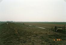ZL_ZEEDIJK_05 Overzicht over de Beningerwaard vanaf de Zeedijk.; 5 september 1991