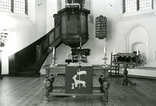 ZW_SCHOOLSTRAAT_030 Liturgisch centrum in de Ned. Hervormde Kerk (St. Martinuskerk); ca.1960