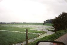 ZW_WATEROVERLAST_31 Ondergelopen weilanden na overvloedige regenval; 17 september 1998