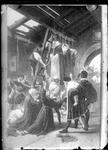 GN2206 Reproductie van een gravure van de ophanging van de martelaren