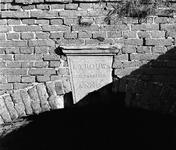 C1901 Sluitsteen in gemaal oost in Nieuwenhoorn; 1979
