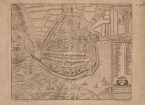 1c34 Die stadt Enchuijsen : La ville d'Enchuse située en la comté d'Hollande comme elle se comporte a present, 158-?