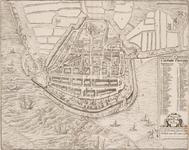 1c35 Die stadt Enchuijsen : La ville d'Enchuse située en la comté d'Hollande comme elle se comporte a present, 1580?