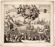 1f125 Receptie van Hare K.H.M. de Princ. van Orangie als koningin van gr. Britange = Reception of Her Roial High the ...
