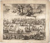 1f126 Zee tocht uyt Hellevoet Sluys door S.K.H. Willem Henrik... etc., 1688, 13 november