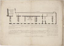 1f134 Plan des appartements tendus de noir,... etc., ca. 1752